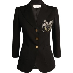 Alexander McQueen Embroidered Pocket Tailored Jacket found on Bargain Bro UK from harrods.com