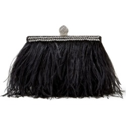 Jimmy Choo Ostrich Feather Celeste Clutch Bag found on Bargain Bro UK from harrods.com