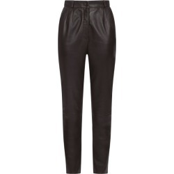 Dolce & Gabbana Leather Trousers found on Bargain Bro UK from harrods.com