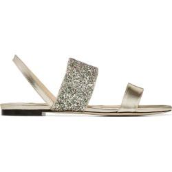 Jimmy Choo Seia Glitter Flats found on Bargain Bro UK from harrods.com