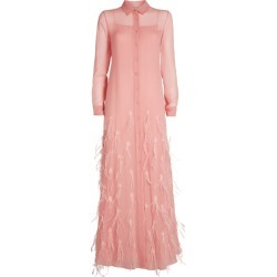 Emilio Pucci Feather-Embellished Dress found on MODAPINS from harrods.com for USD $6454.51