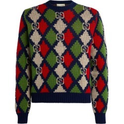 Gucci GG Supreme Chequerboard Sweater found on MODAPINS from harrods.com for USD $950.79