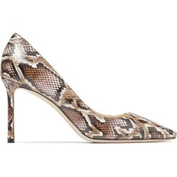 Jimmy Choo Romy 85 Snakeskin Pumps found on Bargain Bro from harrods.com for £407