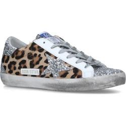 Golden Goose Leopard Print Superstar Sneakers found on Bargain Bro UK from harrods.com