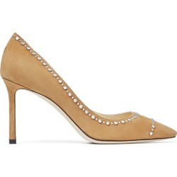 Jimmy Choo Romy 85 Embellished Suede Pumps found on Bargain Bro UK from harrods.com