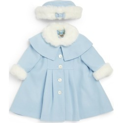 Sarah Louise Faux Fur-Trim Coat and Hat Set (6-24 Months) found on Bargain Bro UK from harrods.com
