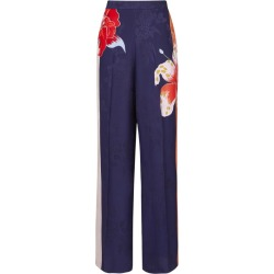 Etro Floral Print Wide-Leg Trousers found on Bargain Bro UK from harrods.com