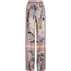 Emilio Pucci Wide-Leg Battistero Print Trousers found on MODAPINS from harrods.com for USD $1565.15