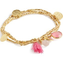 Ashiana Jewellery Gold-Plated Gemstone Charm Bracelet found on MODAPINS from harrods.com for USD $56.36
