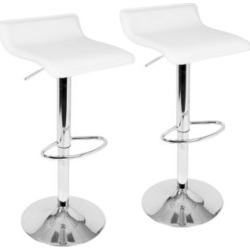Ale White Adjustable Swivel Bar Stools Set of 2 (33C97) found on Bargain Bro India from Lamps Plus for $110.00