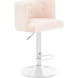 Zayna Light Pink Adjustable Barstool (85M23) found on Bargain Bro India from Lamps Plus for $399.91