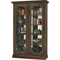 Howard Miller Desmond III Aged Umber 2-Door Display Cabinet (24A50) found on Bargain Bro Philippines from Lamps Plus for $2149.00