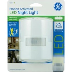 GE White Motion Activated LED Night Light (9F200) found on Bargain Bro Philippines from Lamps Plus for $14.99
