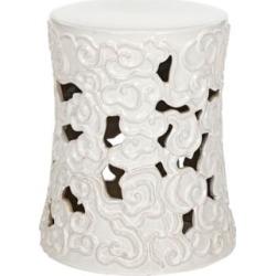 Safavieh Cloud White Ceramic Garden Stool (4P362) found on Bargain Bro India from Lamps Plus for $184.91