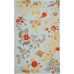 Safavieh Blossom BLM919B Collection 8'x10' Area Rug (W1544) found on Bargain Bro from Lamps Plus for USD $425.60