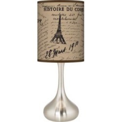 Letters To Paris Linen Giclee Droplet Table Lamp (27R92) found on Bargain Bro India from Lamps Plus for $89.99