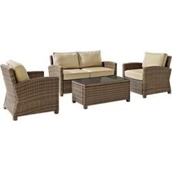 Bradenton 4-Piece Rattan Wicker Sand Outdoor Seating Set (7K172)