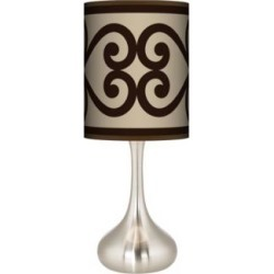 Cambria Scroll Giclee Droplet Table Lamp (27R66) found on Bargain Bro India from Lamps Plus for $89.99