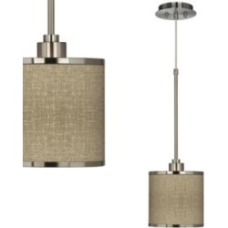 Burlap Print Giclee Glow Mini Pendant Light (28C28) found on Bargain Bro Philippines from Lamps Plus for $129.99