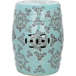 Safavieh Medallion Robbins Egg Blue Ceramic Garden Stool (4P347) found on Bargain Bro India from Lamps Plus for $179.91