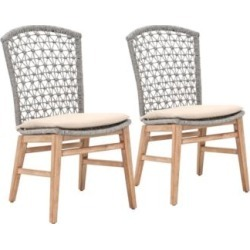 Lace Platinum Rope and Stone Wash Dining Chairs Set of 2 (86F94) found on Bargain Bro India from Lamps Plus for $758.00