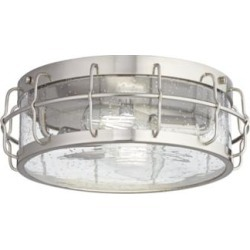 Brushed Nickel Clear Seed Glassy LED Fan Light Kit (63T80) found on Bargain Bro Philippines from Lamps Plus for $120.00