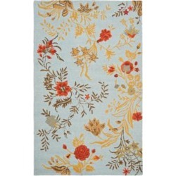 Safavieh Blossom BLM919B Collection 4'x6' Area Rug (W1542) found on Bargain Bro from Lamps Plus for USD $127.68