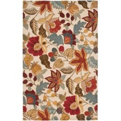 Safavieh Blossom BLM863B Collection 4'x6' Area Rug (W1420) found on Bargain Bro from Lamps Plus for USD $127.68