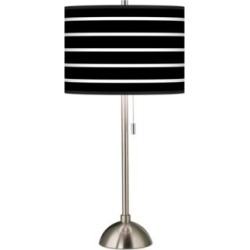 Giclee Bold Black Stripe Table Lamp (26G55) found on Bargain Bro Philippines from Lamps Plus for $99.99