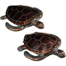 Crestview Collection Antique Bronze Sea Turtles Set of 2 (6W979)