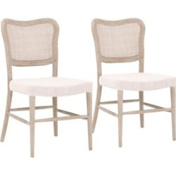 Cela Bisque and Natural Gray Dining Chairs Set of 2 (86F89) found on Bargain Bro India from Lamps Plus for $898.00