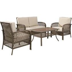 Fulton 4-Piece Outdoor Wicker Seating Set (8W408)