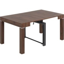Modern Distressed Walnut 2-Leaf Extension Dining Table (79D74) found on Bargain Bro Philippines from Lamps Plus for $599.99