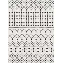 Surya Moroccan Shag MCS-2309 5'x8' Black and White Area Rug (87P09) found on Bargain Bro from Lamps Plus for USD $174.80