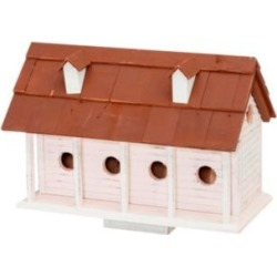 Martinsburg Manor White Wash 6-Room Birdhouse w/ Brown Roof (83A37) found on Bargain Bro Philippines from Lamps Plus for $243.00