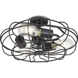 Matte Black Vintage Cage LED Ceiling Fan Light Kit (86J38) found on Bargain Bro Philippines from Lamps Plus for $120.00