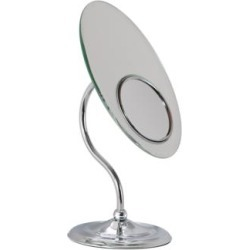Chrome S-Neck Dual-Sided Magnified Makeup Mirror (6H256) found on Bargain Bro India from Lamps Plus for $89.99