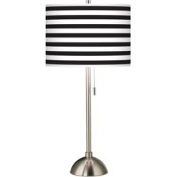 Giclee Black and White Horizontal Stripe Table Lamp (26G58) found on Bargain Bro Philippines from Lamps Plus for $99.99