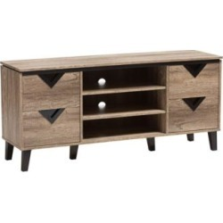 """Beacon 55 1/2"""" Wide Light Brown Wood 4-Drawer TV Stand (35H48)"""