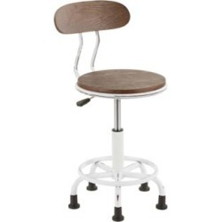 Dakota Vintage White and Espresso Adjustable Task Chair (60H13) found on Bargain Bro India from Lamps Plus for $85.00