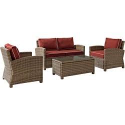 Bradenton 4-Piece Wicker Sangria Outdoor Seating Set (7K166)