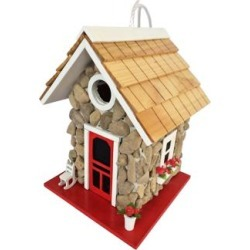 Fieldstone Red Shingled Cottage Birdhouse (7D576) found on Bargain Bro Philippines from Lamps Plus for $39.99