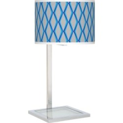 Bleu Matrix Glass Inset Table Lamp (27V80) found on Bargain Bro India from Lamps Plus for $99.99