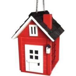 Cottage Suet Red Wood Hanging Bird Feeder (83A52)