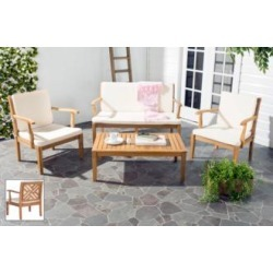 Bradbury Brown and Ivory 4-Piece Outdoor Conversation Set (8M511) found on Bargain Bro from Lamps Plus for USD $797.93