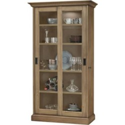 Howard Miller Meisha II Aged Natural 2-Door Display Cabinet (24A60) found on Bargain Bro Philippines from Lamps Plus for $2099.00