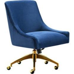 Beatrix Navy Velvet Adjustable Swivel Office Chair (60V26) found on Bargain Bro India from Lamps Plus for $389.91