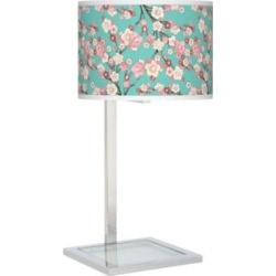 Cherry Blossoms Glass Inset Table Lamp (27V62) found on Bargain Bro India from Lamps Plus for $99.99