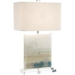 John Richard Slated Blue and Gray Table Lamp (55H21)