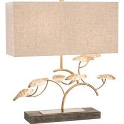 John Richard Zay Gray Concrete and Gold Leaf Tree Table Lamp (33V18)